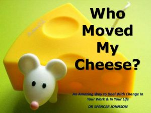 چه کسی پنیر مرا جابه جا کرد؟