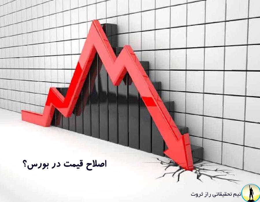 اصلاح قیمت در بورس به چه معناست