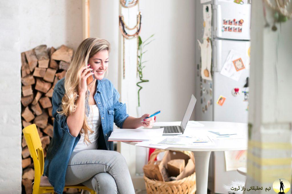 مشاغل خانگی برای زنان جوان